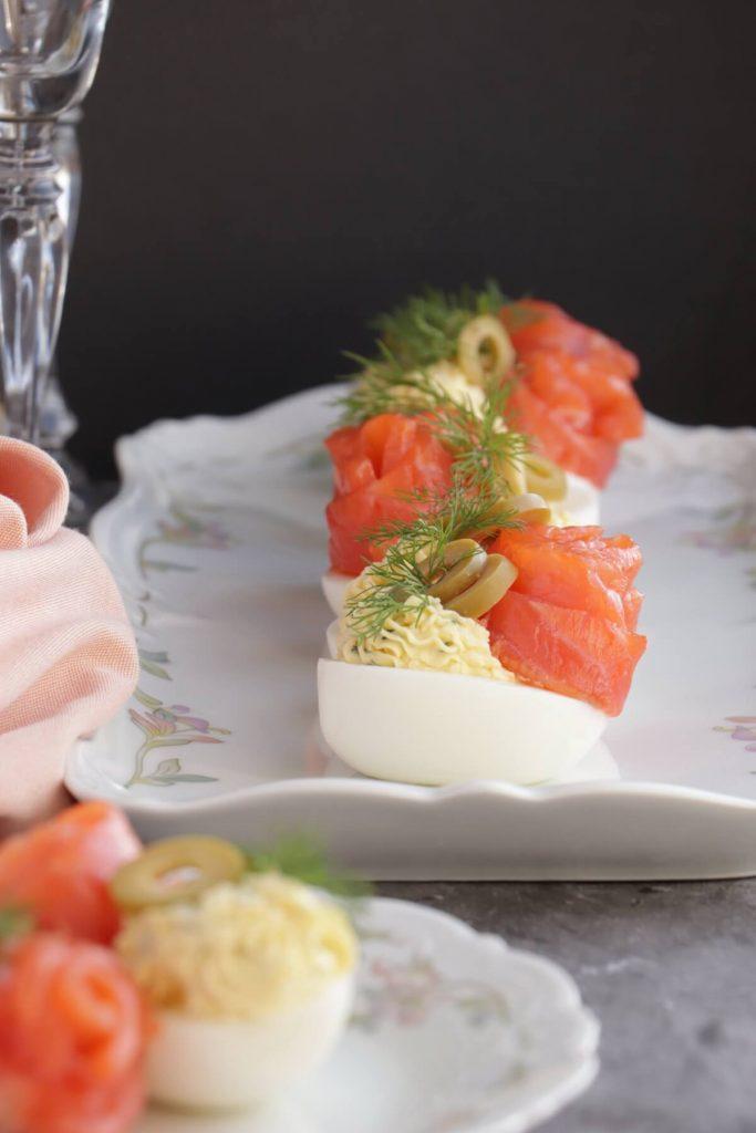 The Best Salmon Deviled Eggs