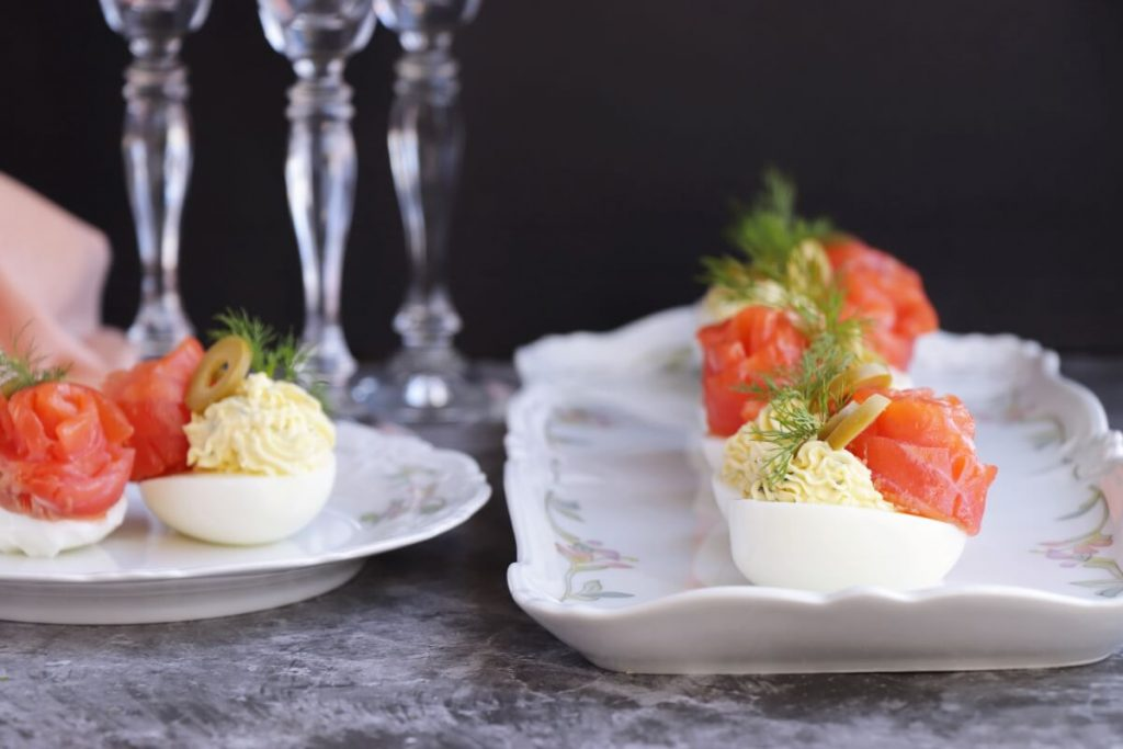 The Best Salmon Deviled Eggs Recipe-Salmon Devilled Eggs-Easy Fish Appetizers