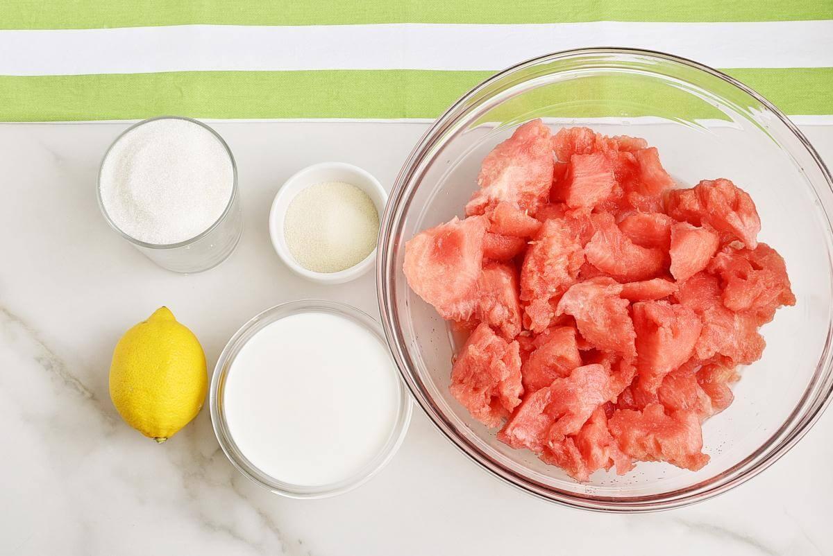 Ingridiens for Watermelon Sherbet