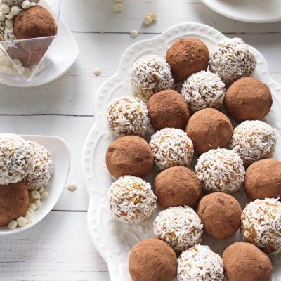 White Chocolate and Dried Fruit Truffles - White Chocolate Fruit and Nut Truffles Recipe - How to make White Chocolate and Dried Fruit Truffles