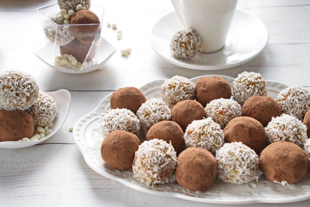 How to serve White Chocolate and Dried Fruit Truffles
