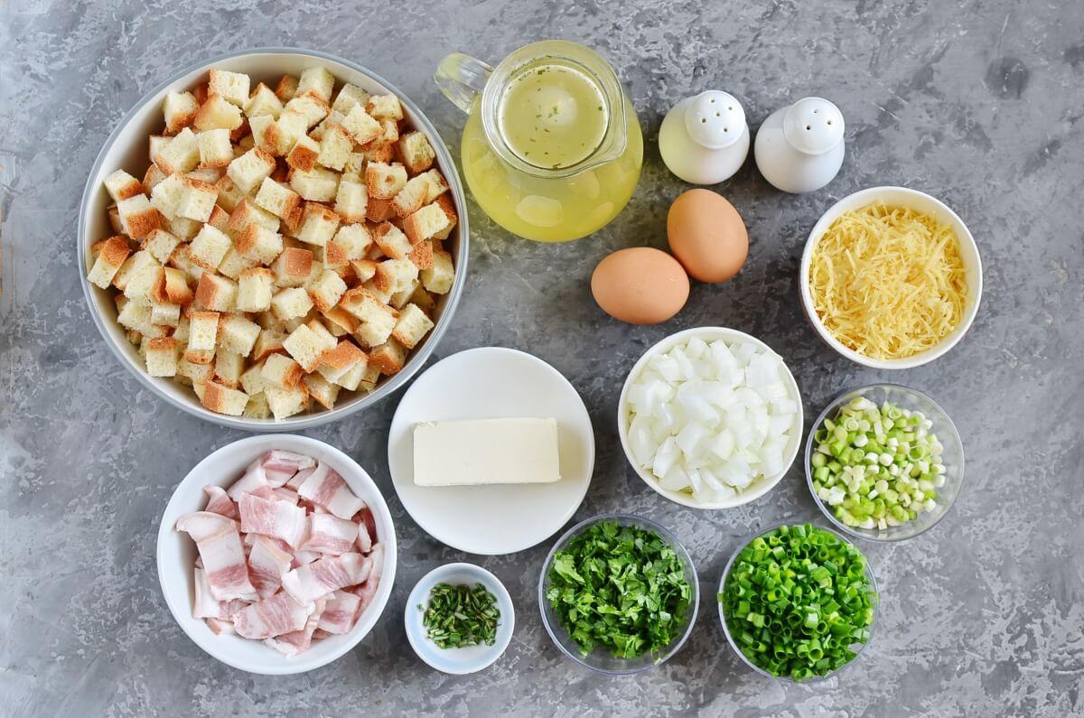 Ingridiens for Bacon-Parmesan Stuffing