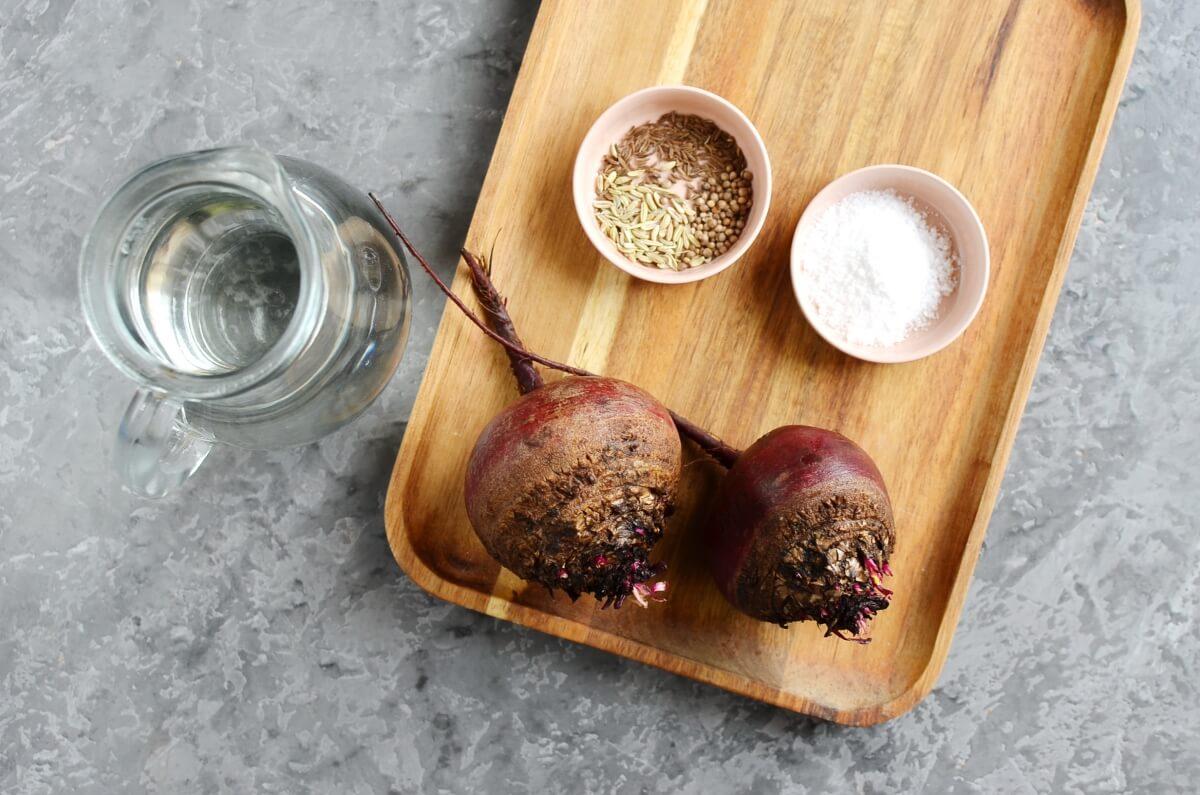 Ingridiens for Fermented Beet Kvass