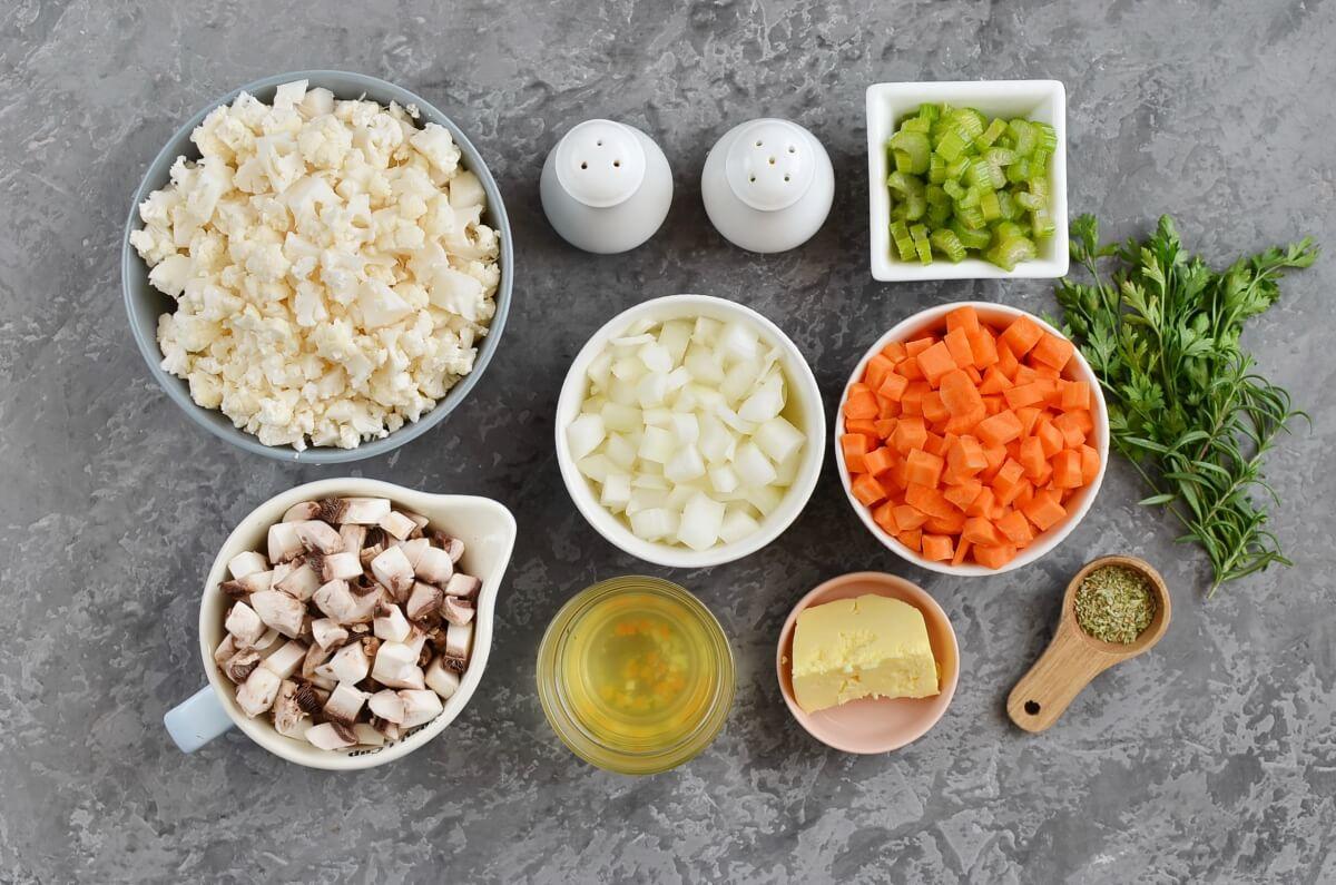 Ingridiens for Best-Ever Cauliflower Stuffing (Keto)