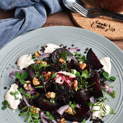 Charred Beetroot and Lentil Salad Recipes–Homemade Charred Beetroot and Lentil Salad–Easy Charred Beetroot and Lentil Salad