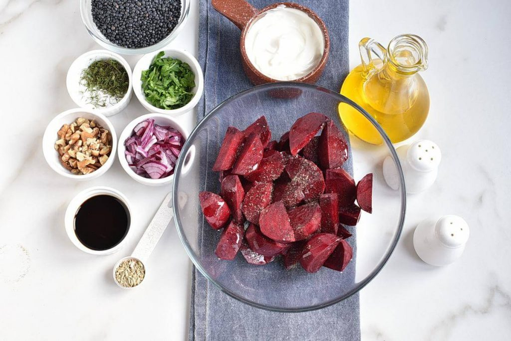 Healthy Charred Beetroot and Lentil Salad recipe - step 2
