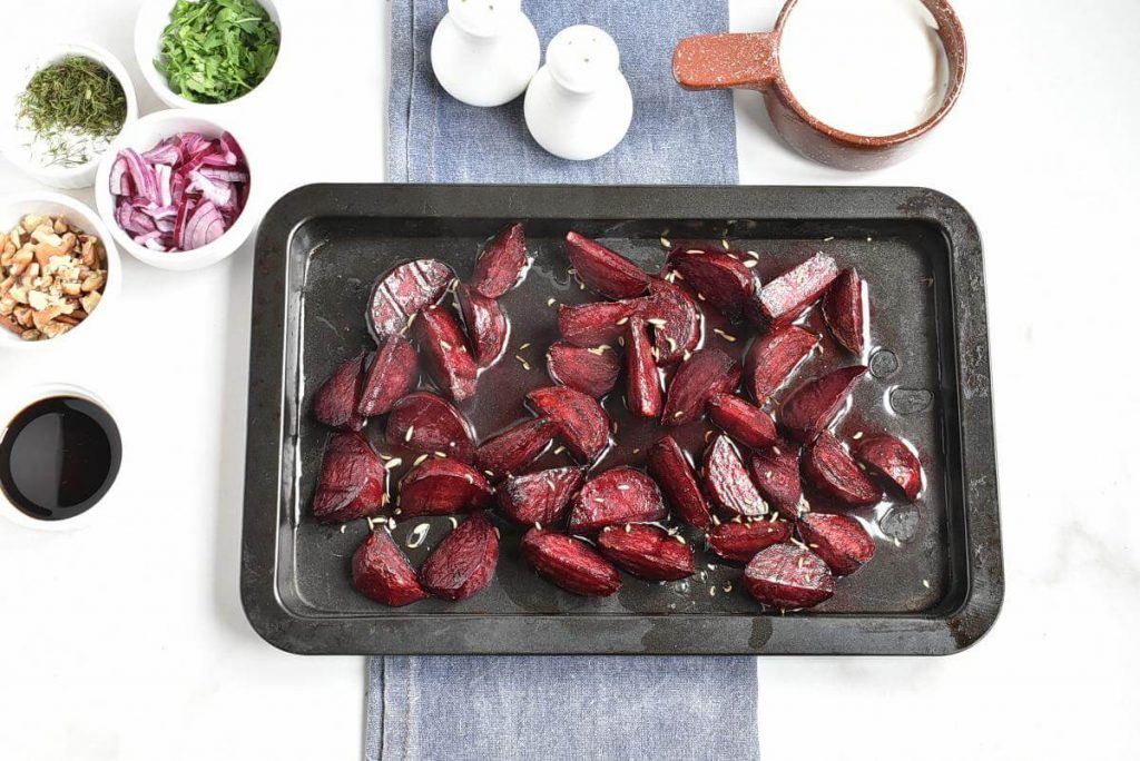 Healthy Charred Beetroot and Lentil Salad recipe - step 4
