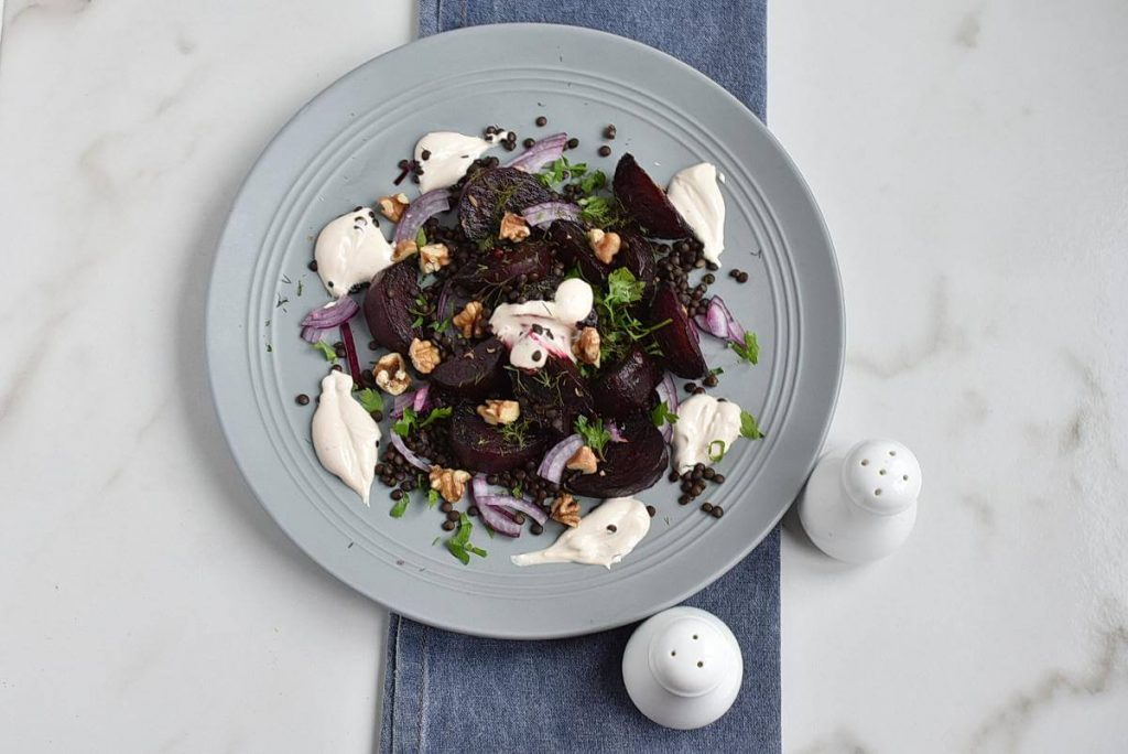 How to serve Healthy Charred Beetroot and Lentil Salad