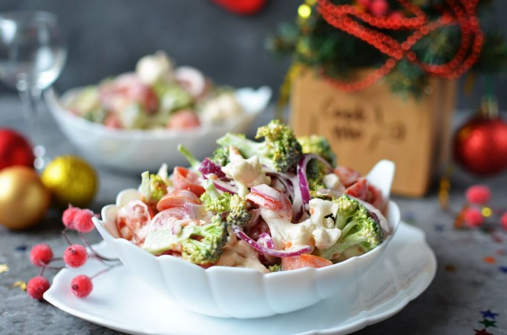 Christmas Salad Recipe-How To Make Christmas Salad-Delicious Christmas Salad