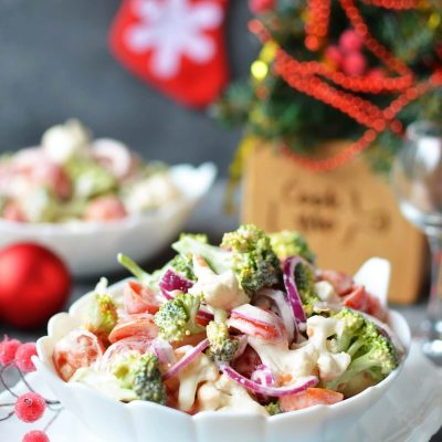 Christmas Salad Recipe-How To Make Christmas Salad-Delicious Christmas Salad