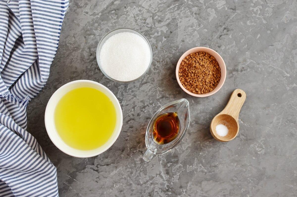 Ingridiens for Coffee Meringues