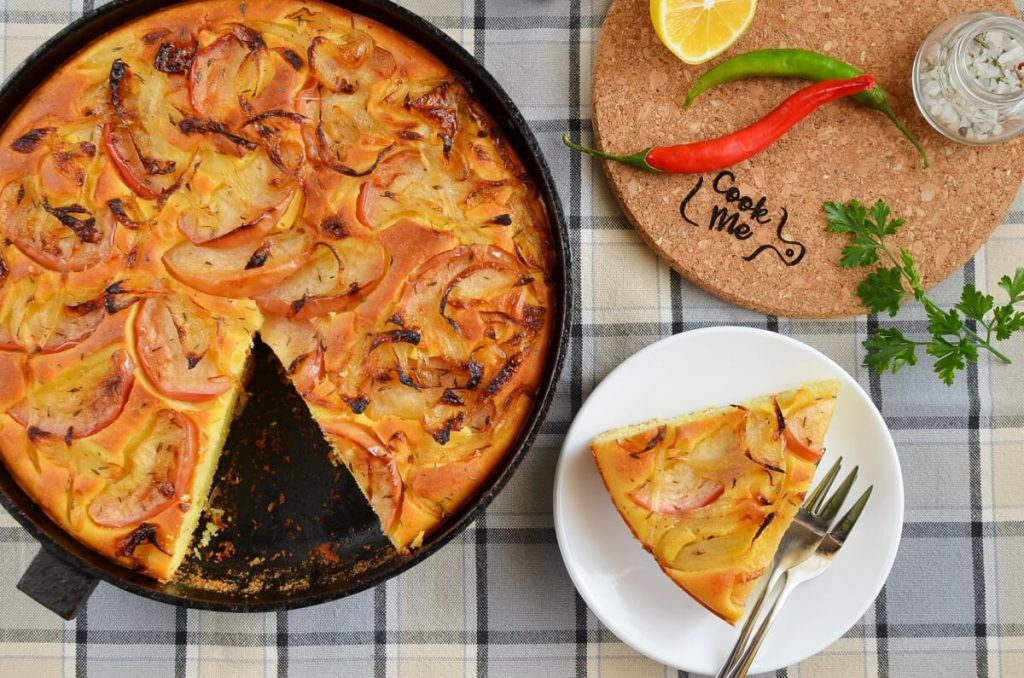 Cornbread with Caramelized Apples and Onions Recipe-How To Make Cornbread with Caramelized Apples and Onions-Delicious Cornbread with Caramelized Apples and Onions
