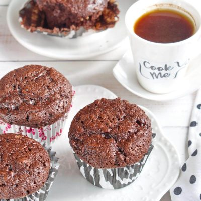 Double Chocolate Zucchini Muffins-Healthy Double Chocolate Zucchini MuffinsHow to make Double Chocolate Zucchini Muffins