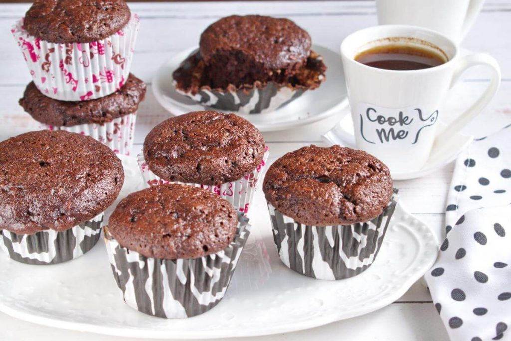 How to serve Double Chocolate Zucchini Muffins