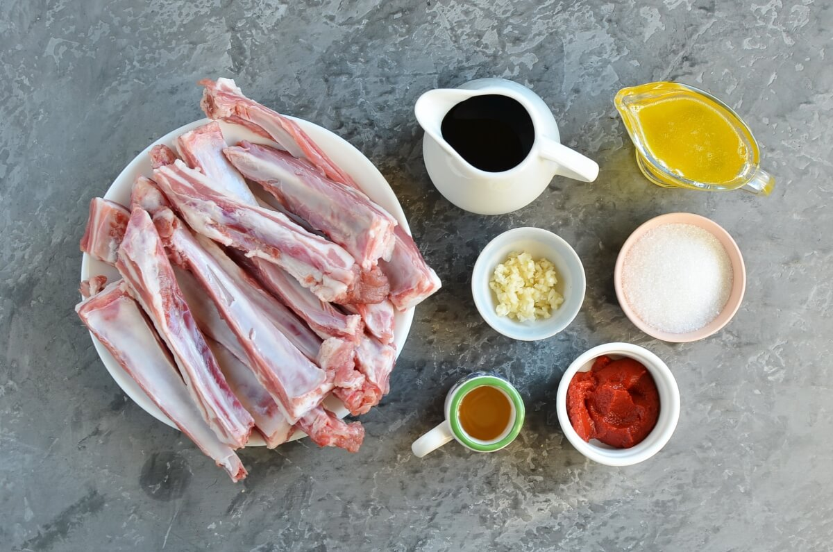 Ingridiens for Easy Sticky Lamb Ribs