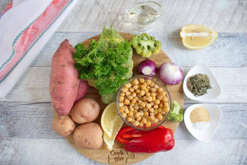 Ingridiens for Easy Vegan Sheet Pan Dinner