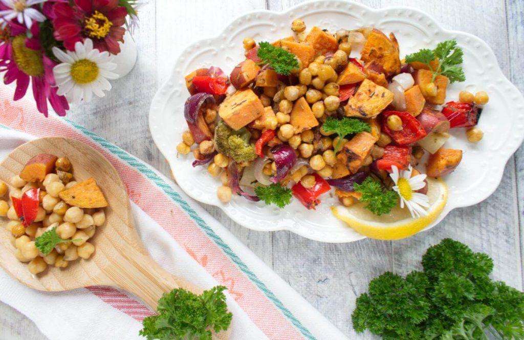 How to serve Easy Vegan Sheet Pan Dinner