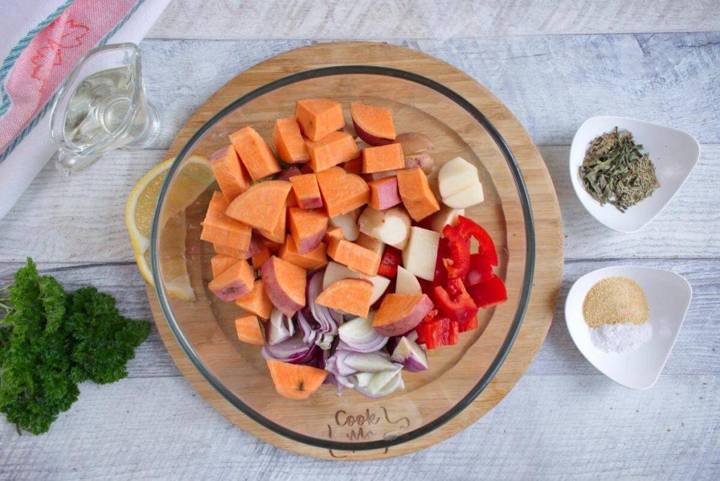 Easy Vegan Sheet Pan Dinner recipe - step 2