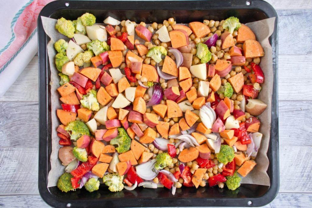 Easy Vegan Sheet Pan Dinner recipe - step 4