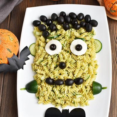 Frankenstein Pasta for Halloween Recipes–Frankenstein Pasta for Halloween–Easy Frankenstein Pasta for Halloween