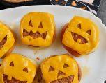 Frightfully Delicious Jack-o'-Lantern Cheeseburgers