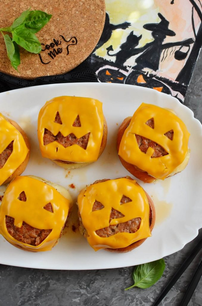 Scary Halloween burgers