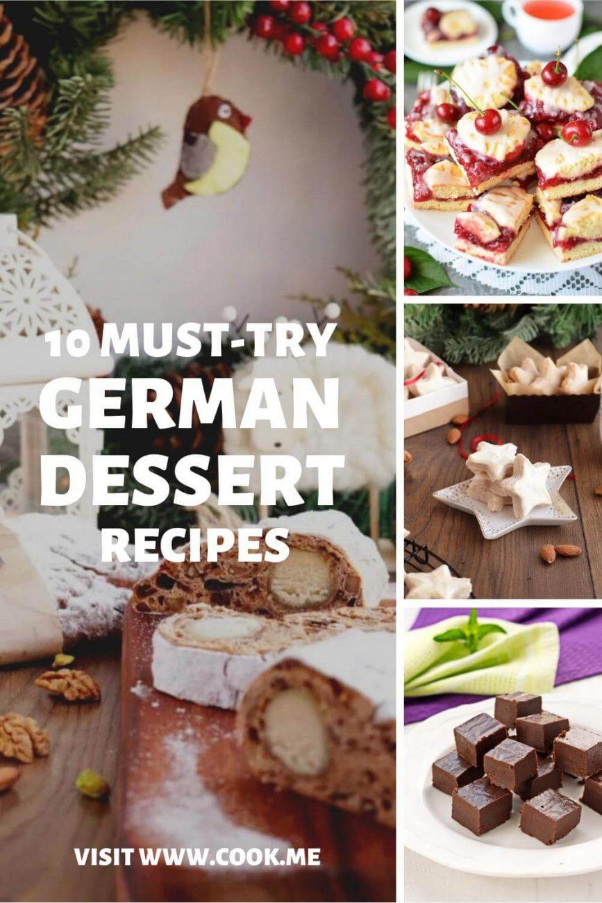 German Dessert Recipes - 10 Must-Try German Desserts Sweet Treats - Authentic German Dessert Recipes