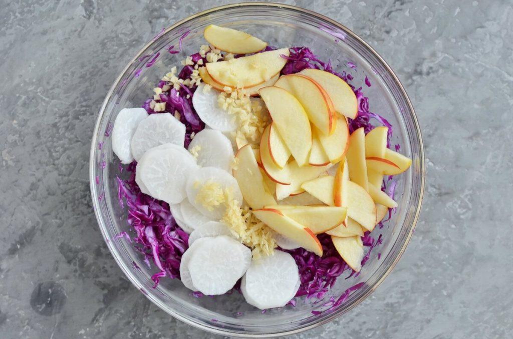 Gingery Apple Cabbage Sauerkraut recipe - step 2