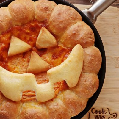 Halloween Buffalo Chicken Skillet Dip Recipe-Buffalo Chicken Skillet Dip-Easy Halloween Food Ideas