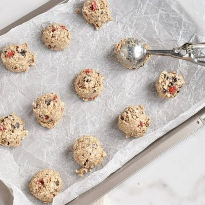 Healthy Oatmeal Cherry Cookies recipe - step 6
