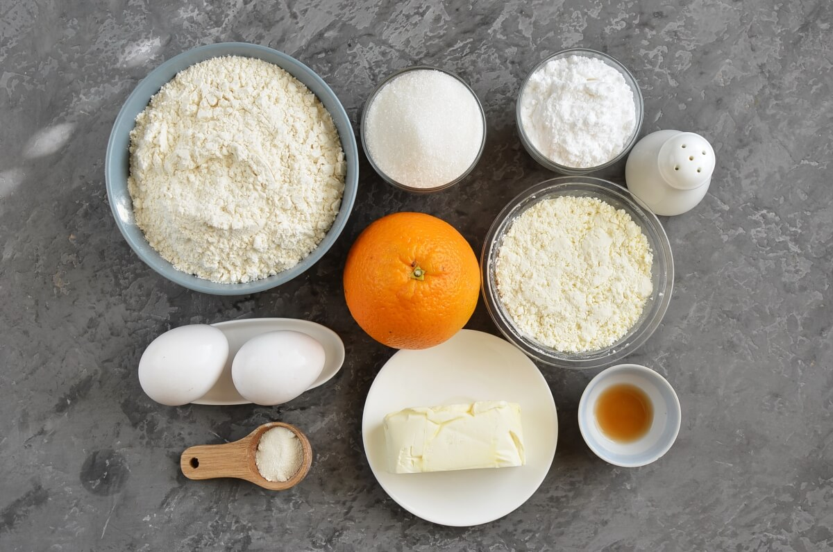 Ingridiens for Orange Ricotta Cookies