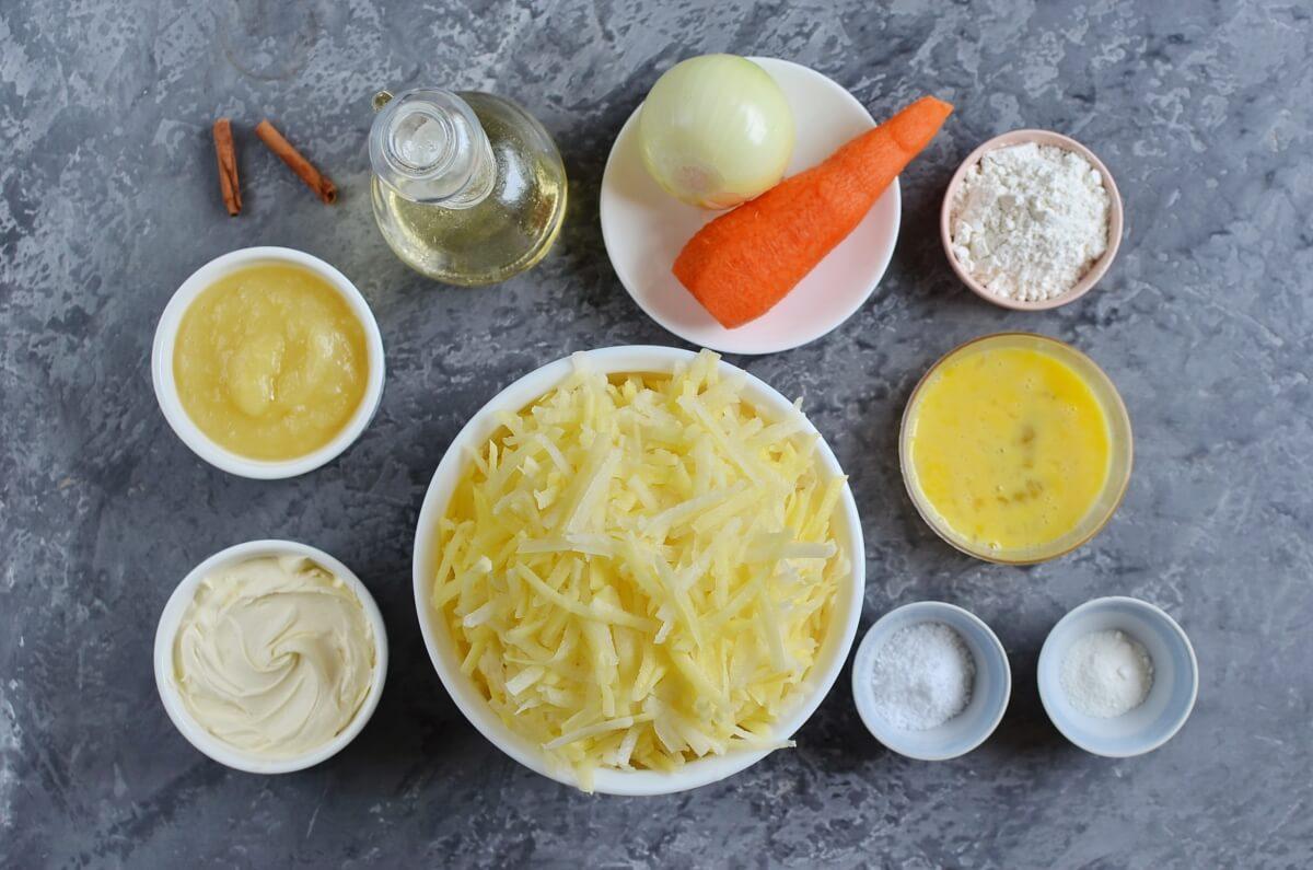 Ingridiens for Quick Potato and Carrot Latkes