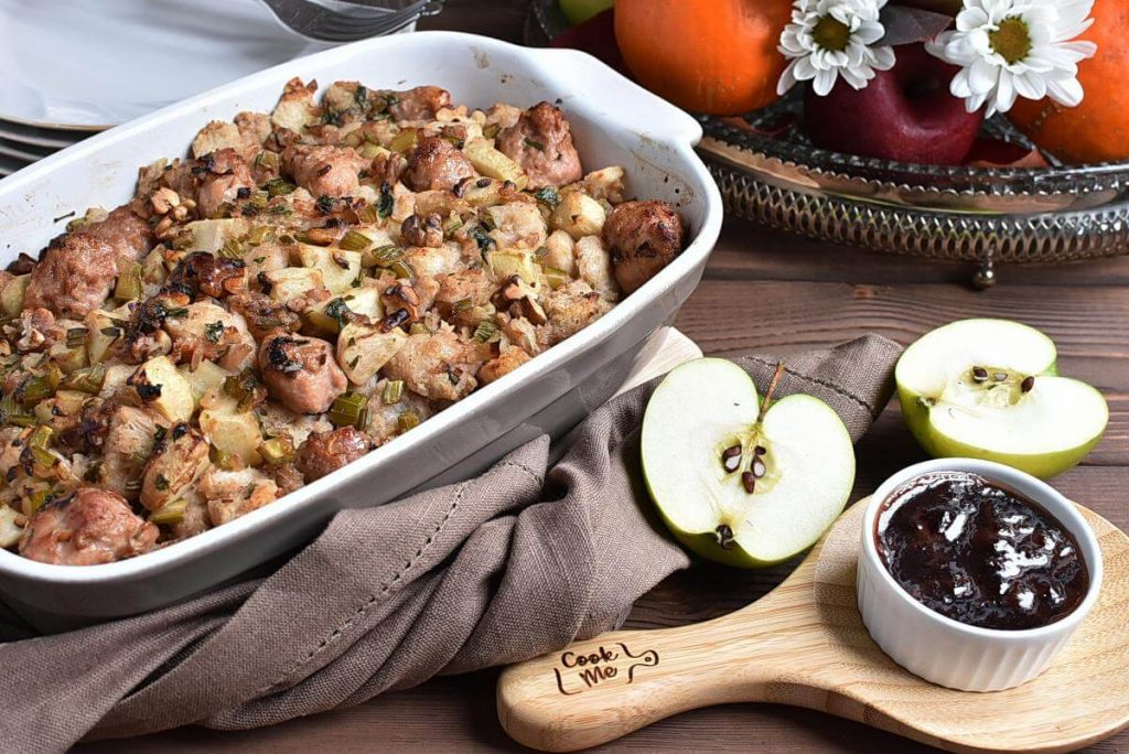 How to serve Sausage, Apple, and Walnut Stuffing