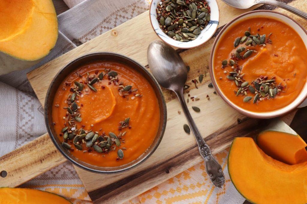 How to serve Savory Pumpkin Soup with Spice Shake