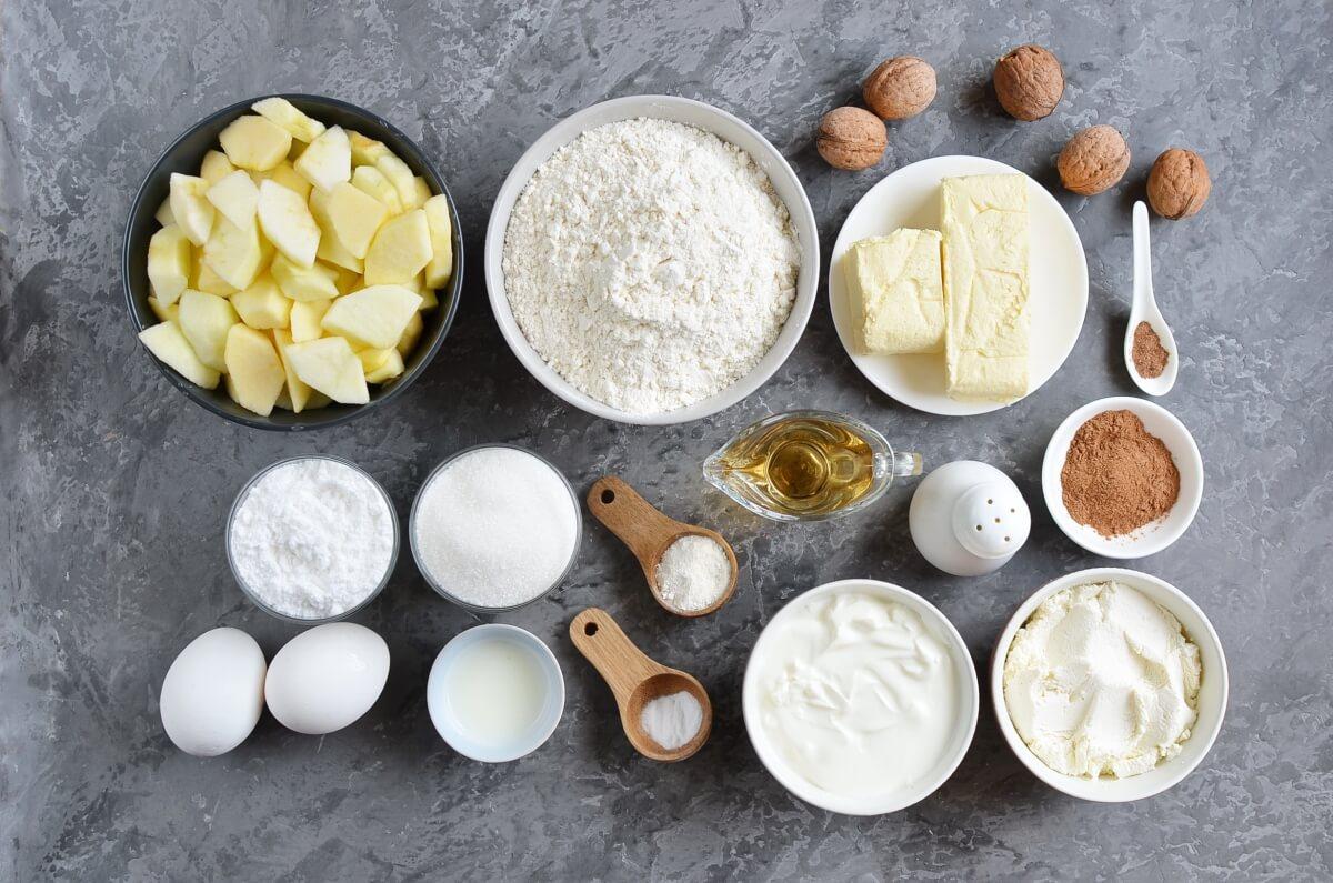 Ingridiens for Spiced Apple-Mascarpone Bundt Cake
