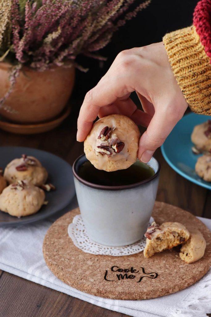 Sweet Potato Cookies with Maple Glaze
