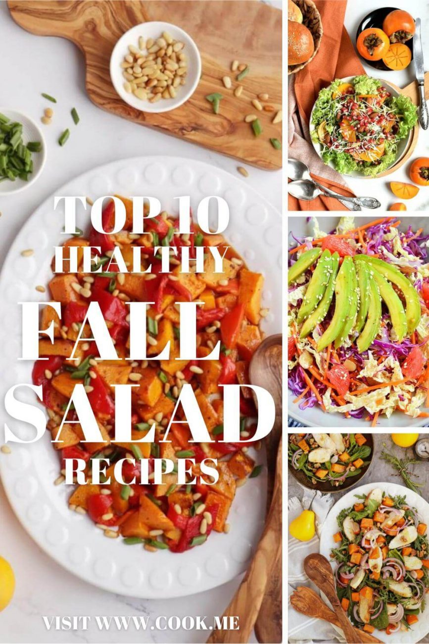TOP 10 Healthy Fall Salad Recipes - Best Fall Salad Recipes - Healthy Ideas for Autumn Salads