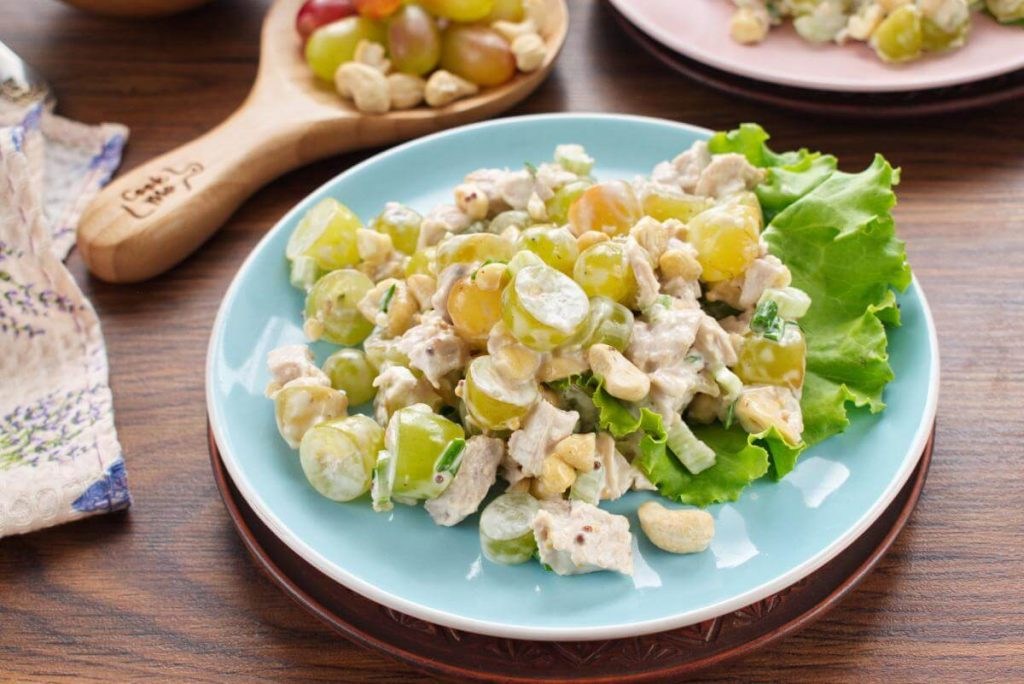 How to serve Turkey Salad with Grapes & Cashews
