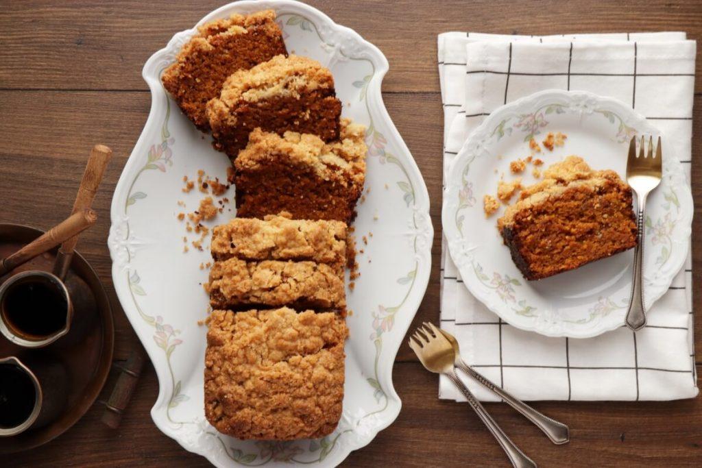 How to serve Vegan Pumpkin Streusel Bread