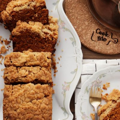 Vegan Pumpkin Bread with Brown Sugar Streusel Crust Recipe-Vegan Pumpkin Bread-Vegan Pumpkin Streusel Bread