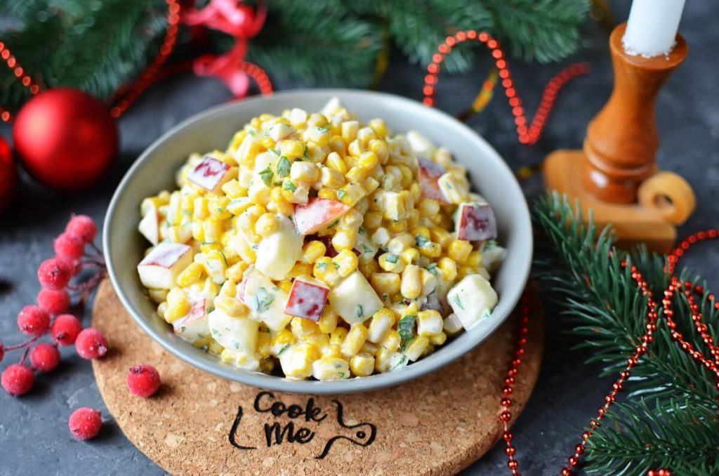 Apple and Corn Salad Recipe-How To Make Apple and Corn Salad-Delicious Apple and Corn Salad