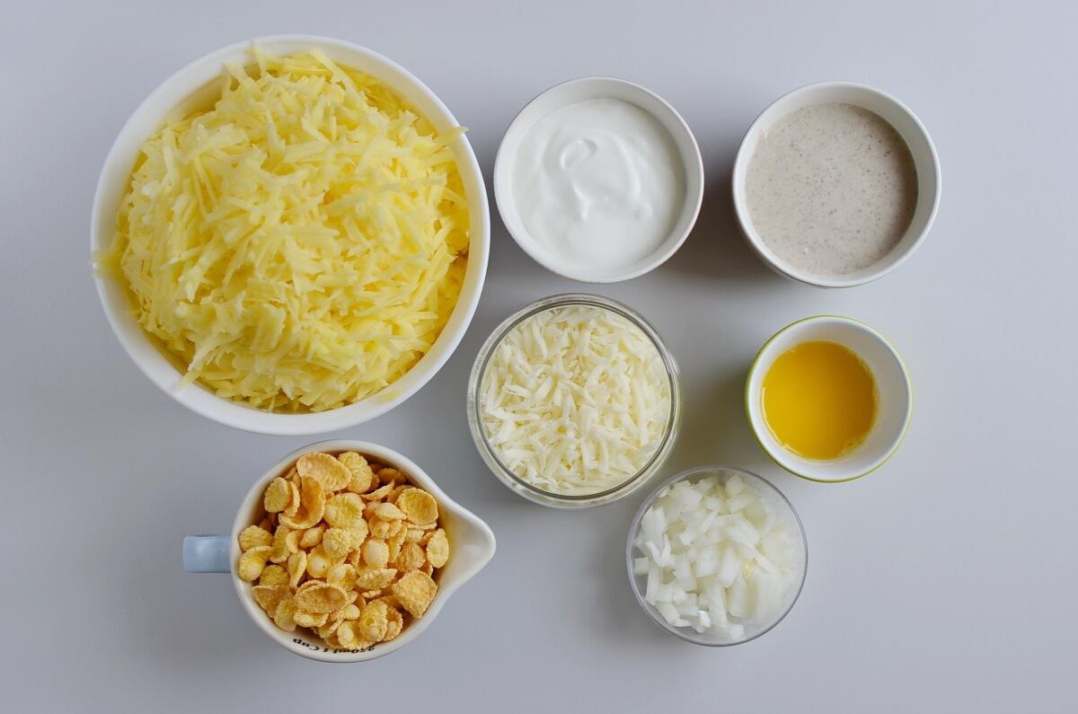 Ingridiens for Au Gratin Potato Casserole
