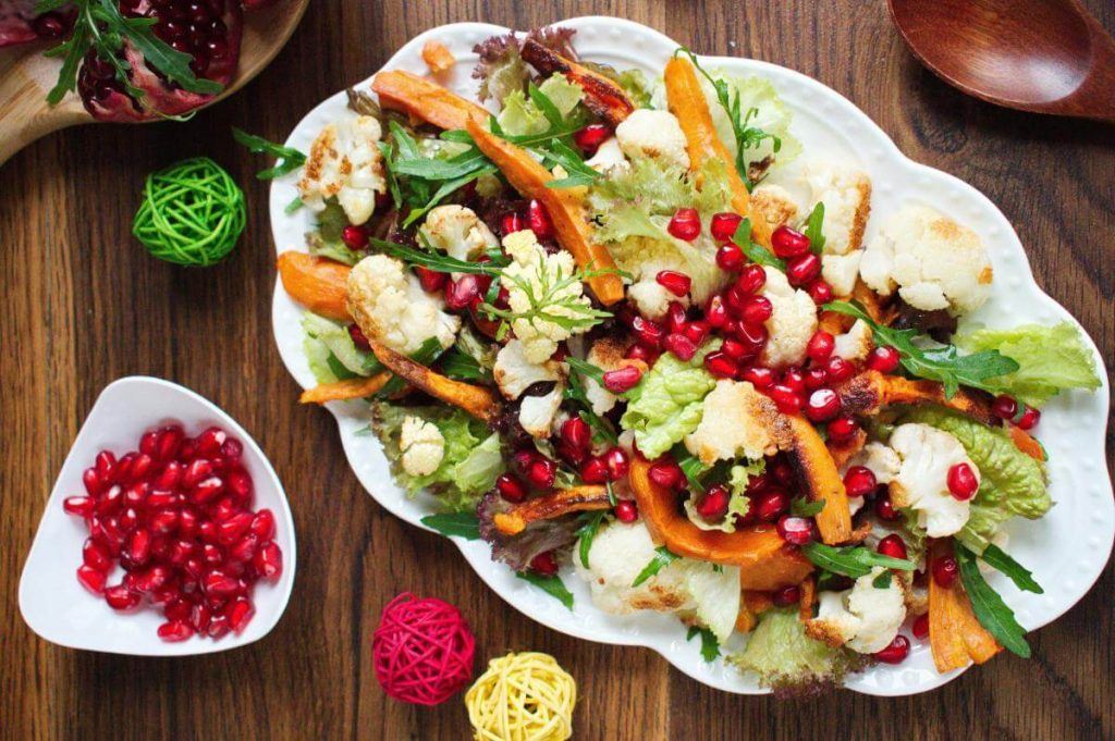 How to serve Christmas Sweet Potato & Cauliflower Salad