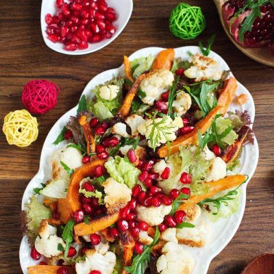 Christmas Sweet Potato Cauliflower Salad recipe- Best Sweet Potato-and-Cauliflower Salad Recipe