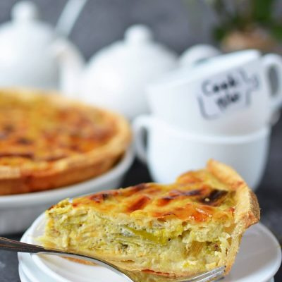 Creamed Leek Tart Recipe-How To Make Creamed Leek Tart-Delicious Creamed Leek Tart