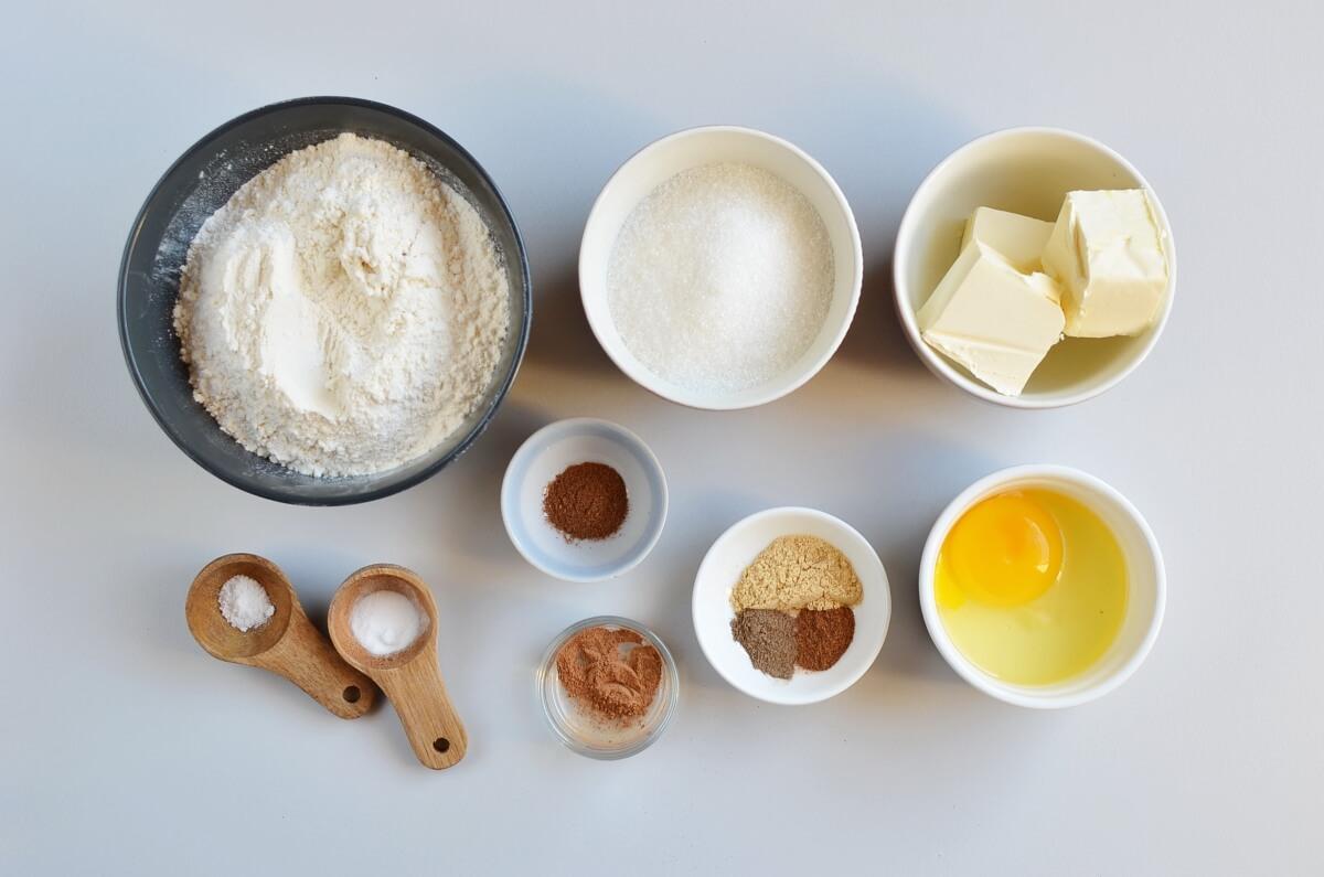 Ingridiens for Dutch Pepernoten Cookies
