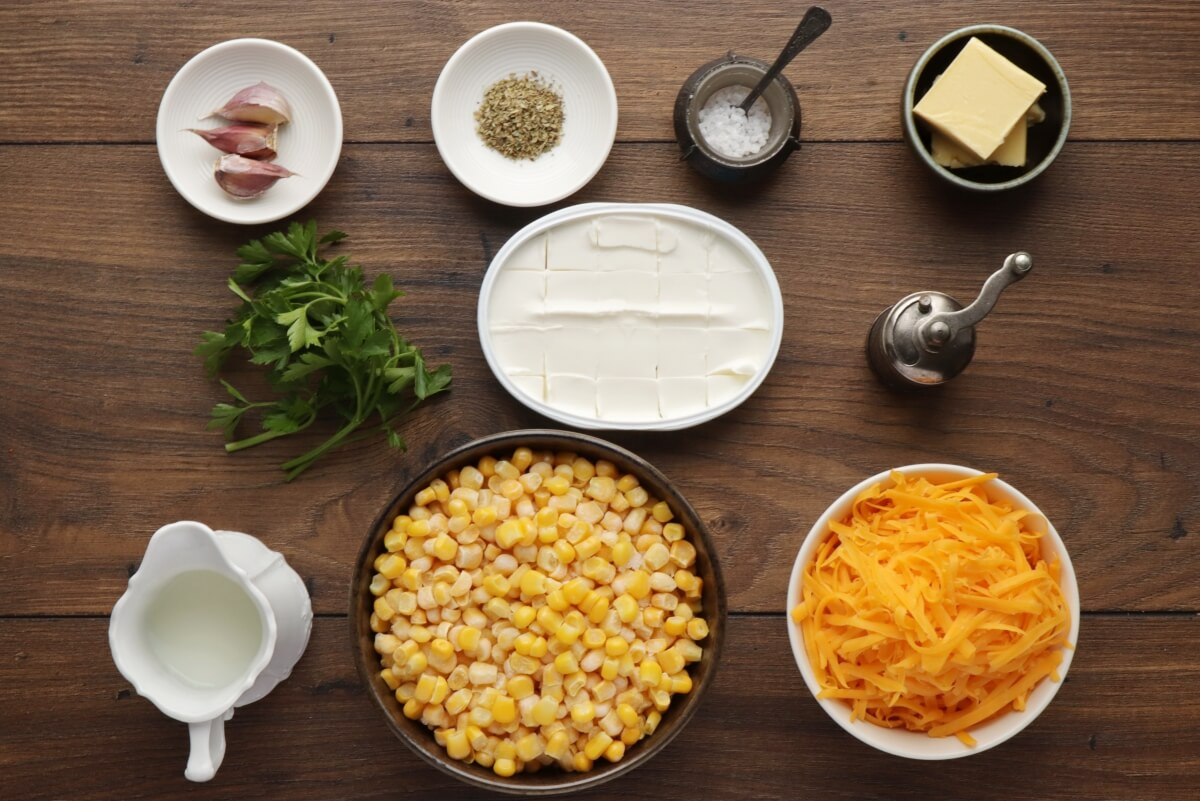 Ingridiens for Easy Creamed Corn