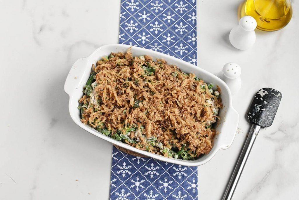 How to serve Healthy Vegan Green Bean Casserole