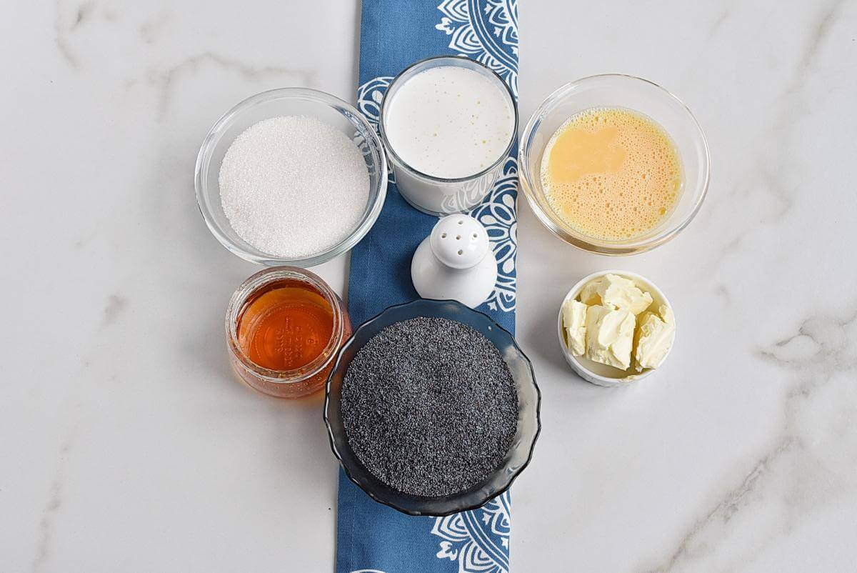 Ingridiens for Homemade Poppy Seed Filling