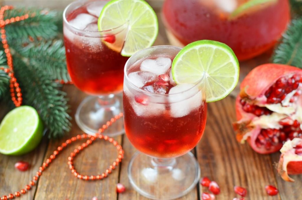 How to serve Pomegranate Lime Spritzer (Non-Alcoholic)